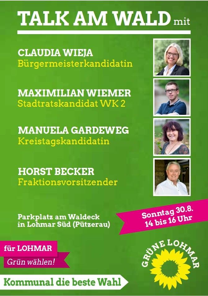 Talk am Wald in Lohmar Süd