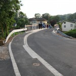140629 KLEIN  Brücke erstmalig frei - Absenkung für Radweg links