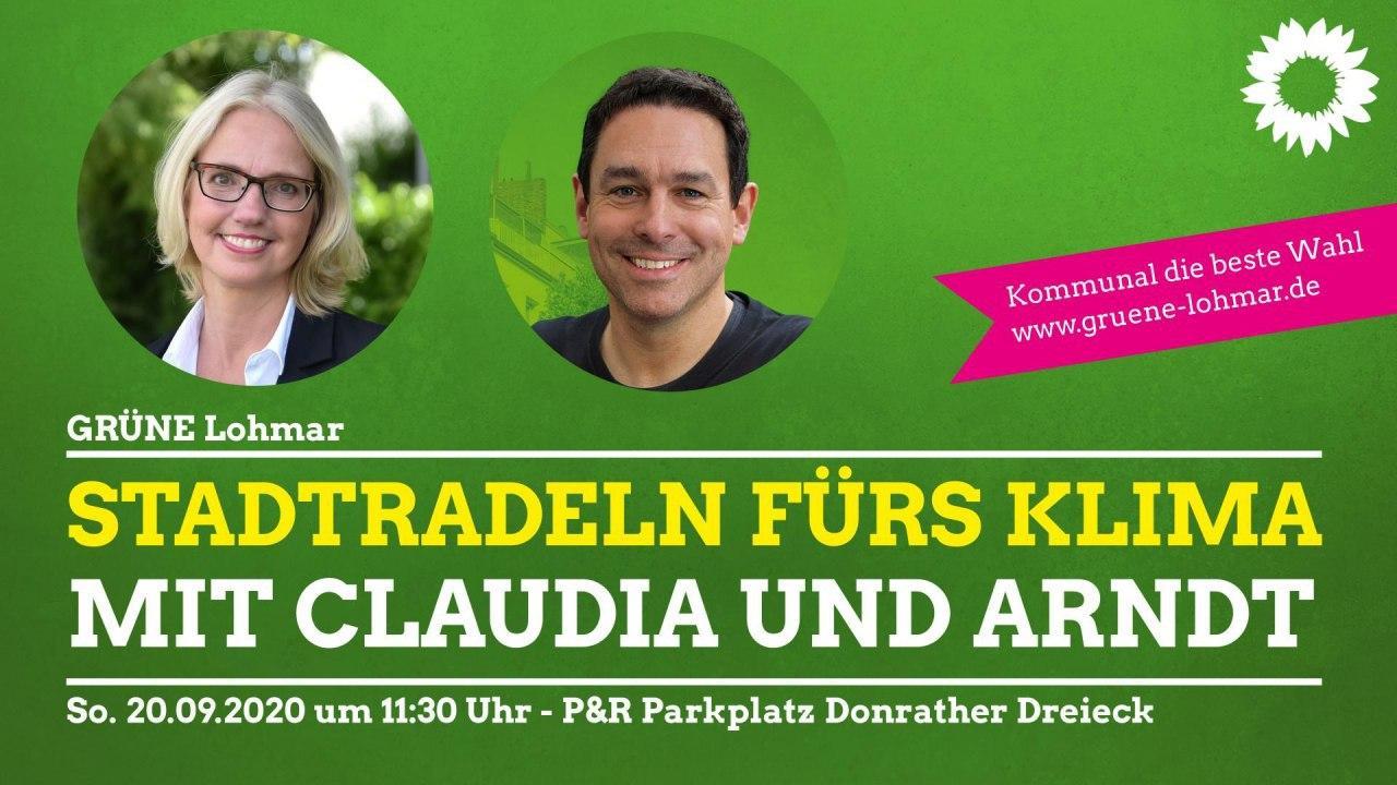 Auftakttour Stadtradeln mit Claudia Wieja und Arndt Klocke MdL