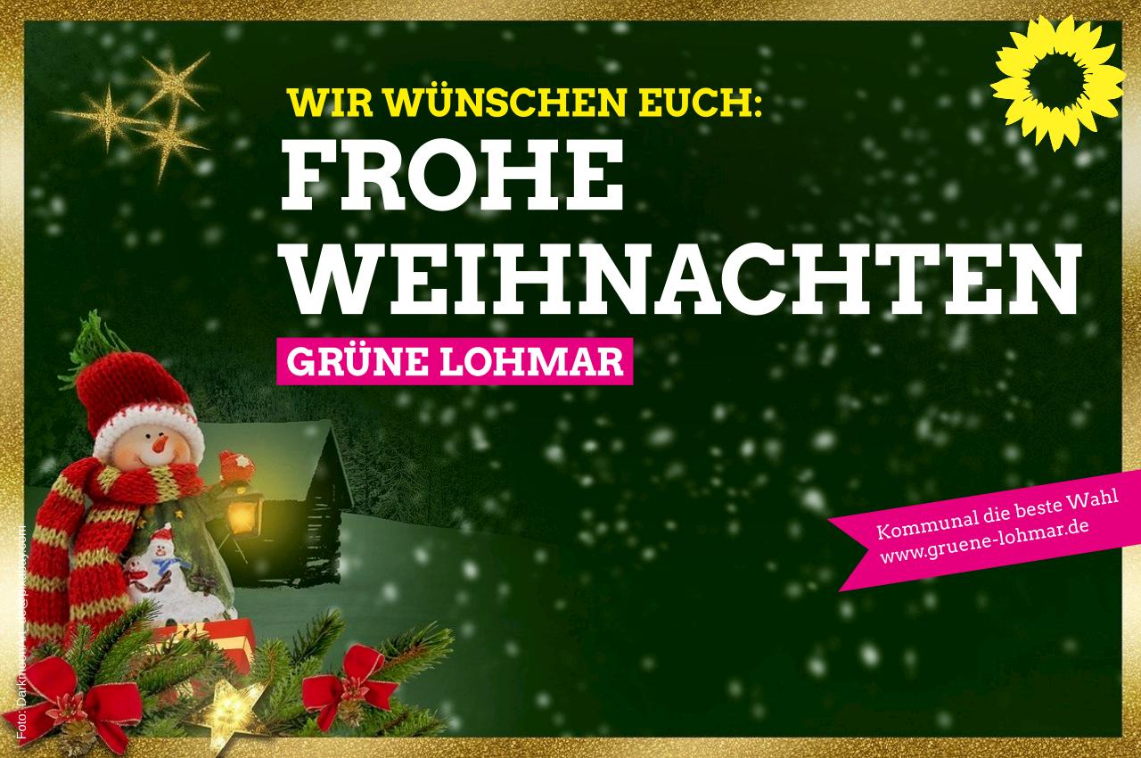 Wir wünschen allen Menschen in Lohmar trotz der Einschränkungen ein frohes Weihnachtsfest. Bleibt gesund!
