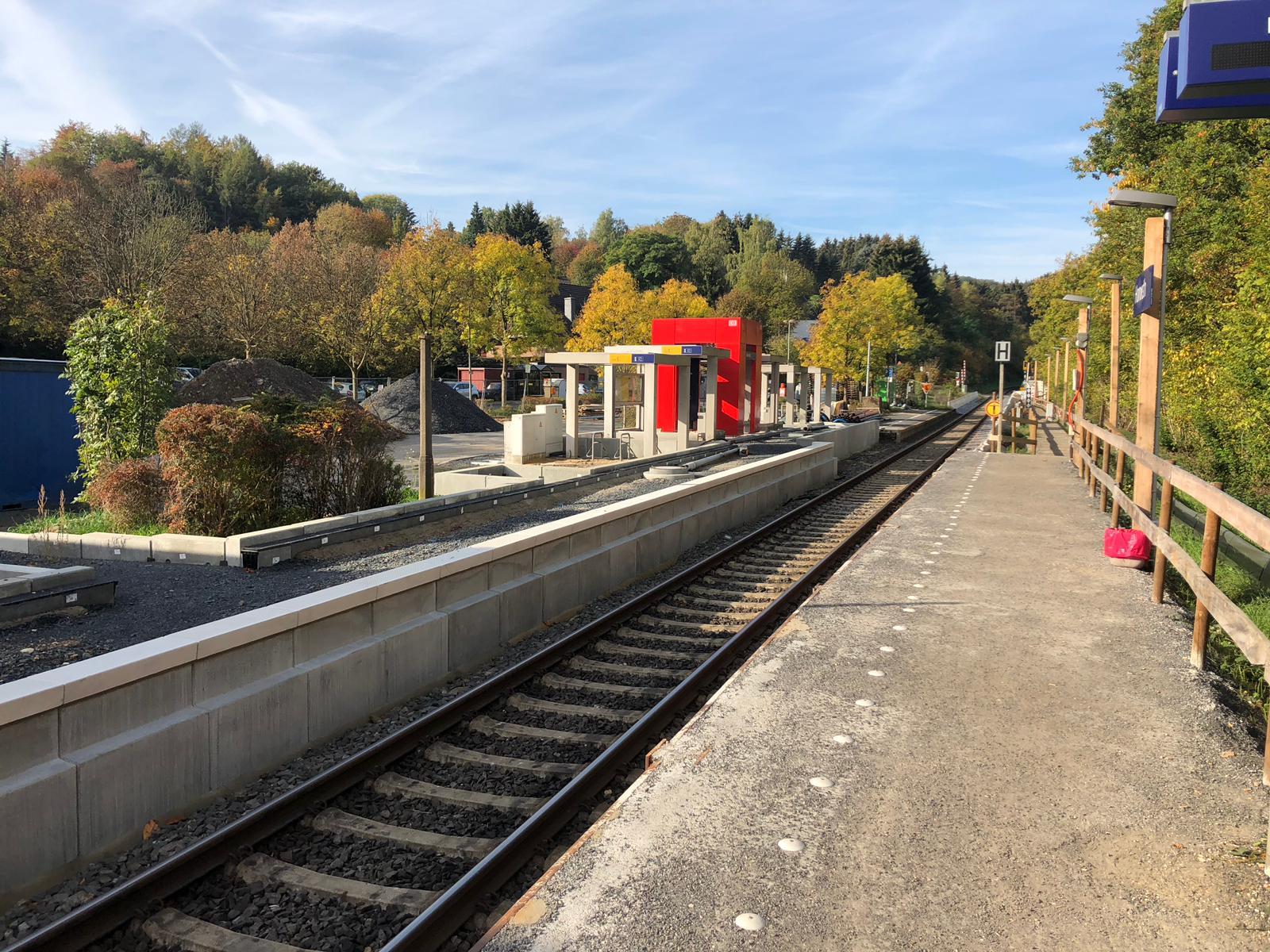 Bauarbeiten am Bahnhof Honrath gehen weiter und sollen am 14.12. beendet sein