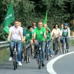 Fahrraddemo durch das Jabachtal