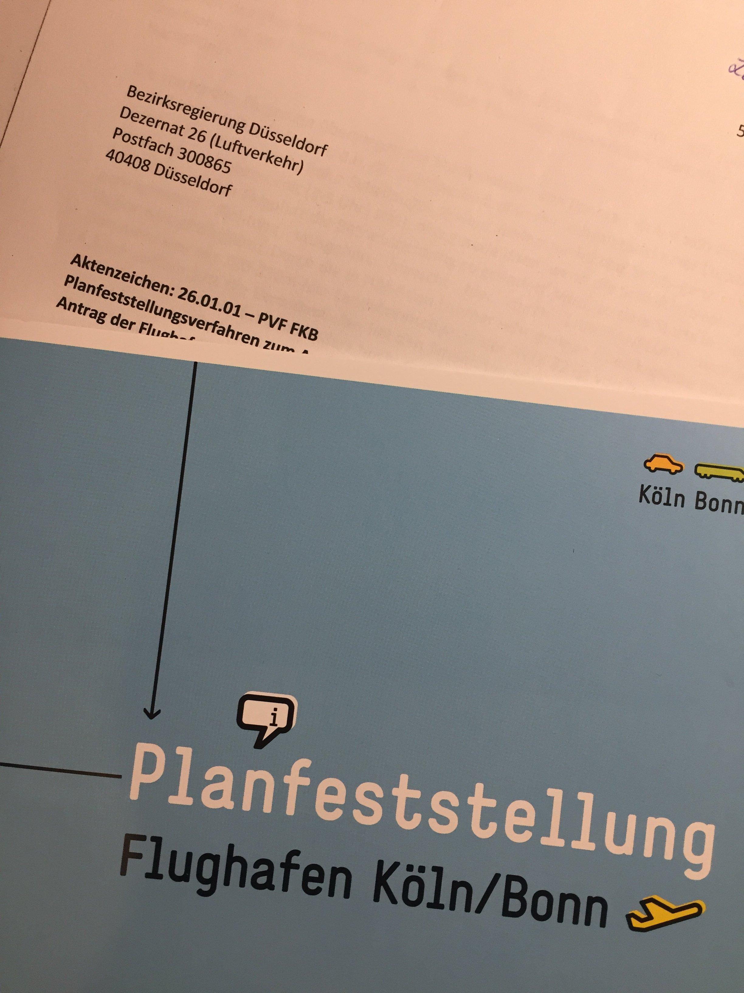 Planfeststellungsverfahren des Flughafen Köln/Bonn
