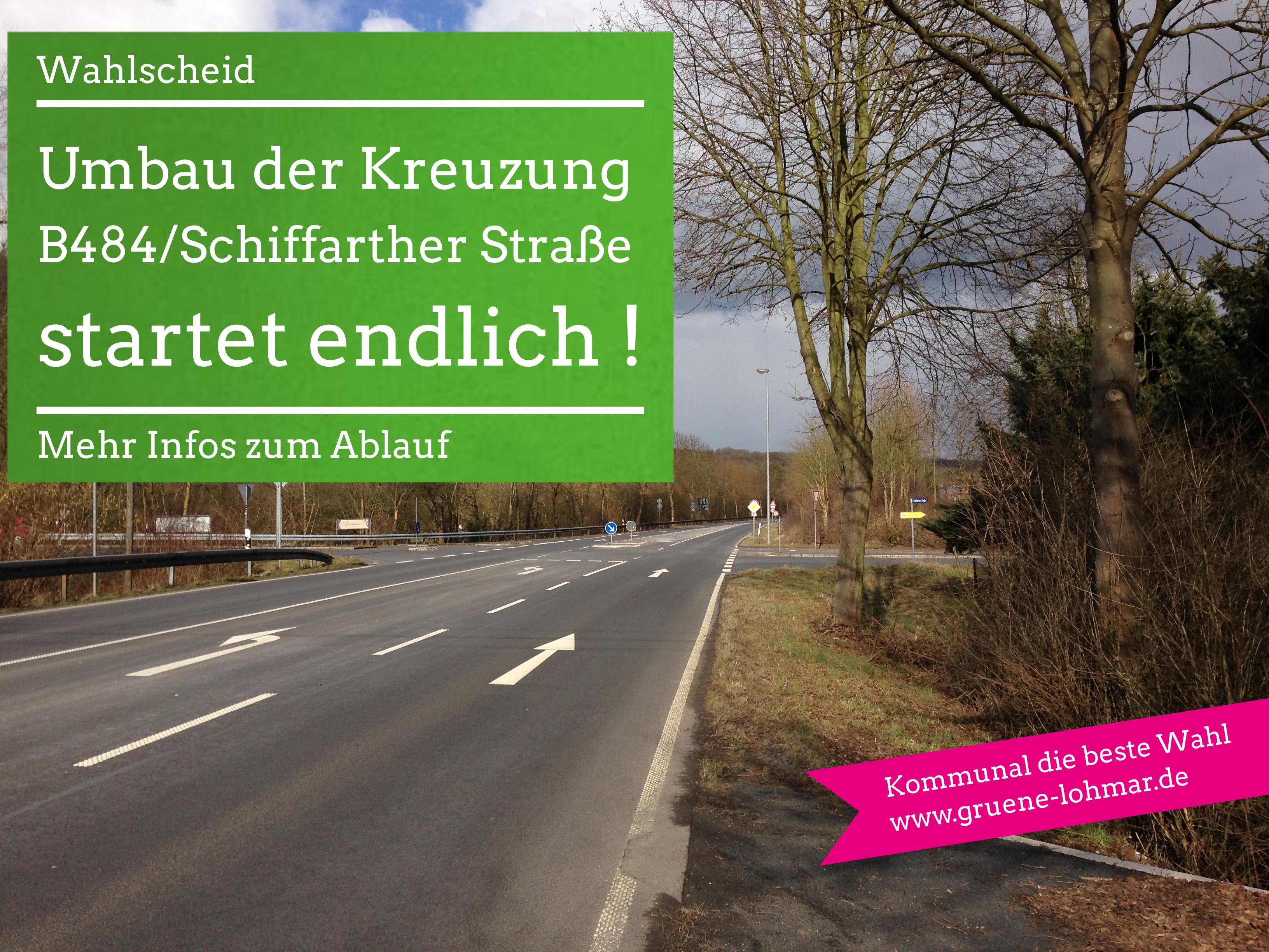 Es geht endlich los: Umbau der Kreuzung B484 – Schiffarther Straße / K 39 und Vergrößerung des Durchlasses Hohner Bach
