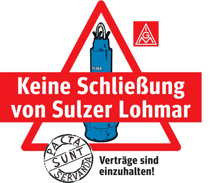 Widerstand gegen Schließung des Pumpenherstellers Sulzer in Scheiderhöhe