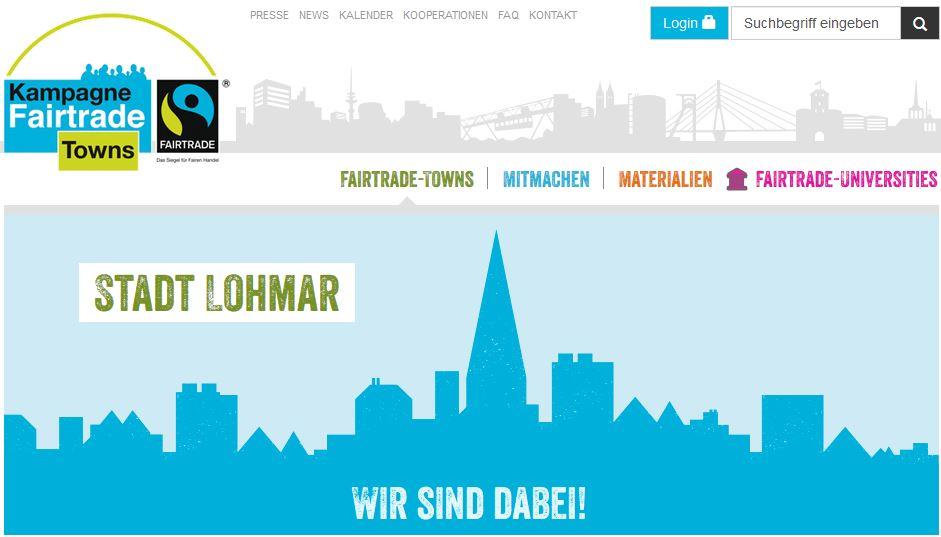 Lohmar wird Fairtrade-Stadt