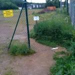 Der Zaun am alten Sportplatz in Lohmar